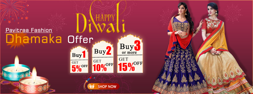 Diwali Festival Special Women Clothing Discount Offers at Pavitraa